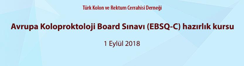 Avrupa Koloproktoloji Board Sınavı (EBSQ-C) hazırlık kursu