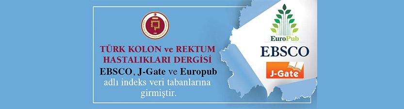 Türk Kolon ve Rektum Hastalıkları Dergisi EBSCO, J-Gate ve Europub adlı İndex Veri Tabanlarına Girmiştir.
