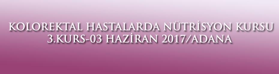 KOLOREKTAL HASTALARDA NÜTRİSYON KURSU