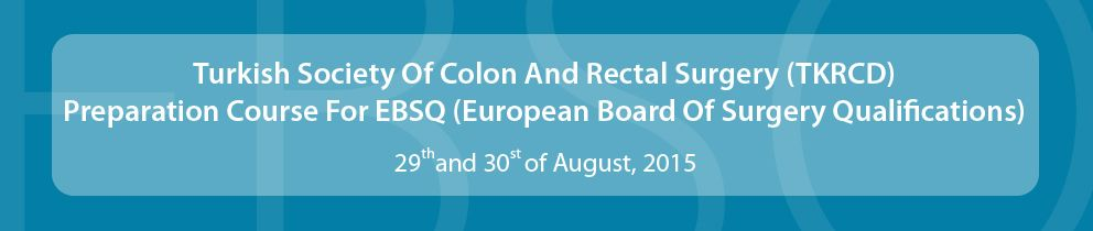 PREPARATION COURSE FOR EBSQ (EUROPEAN BOARD OF SURGERY QUALIFICATIONS)