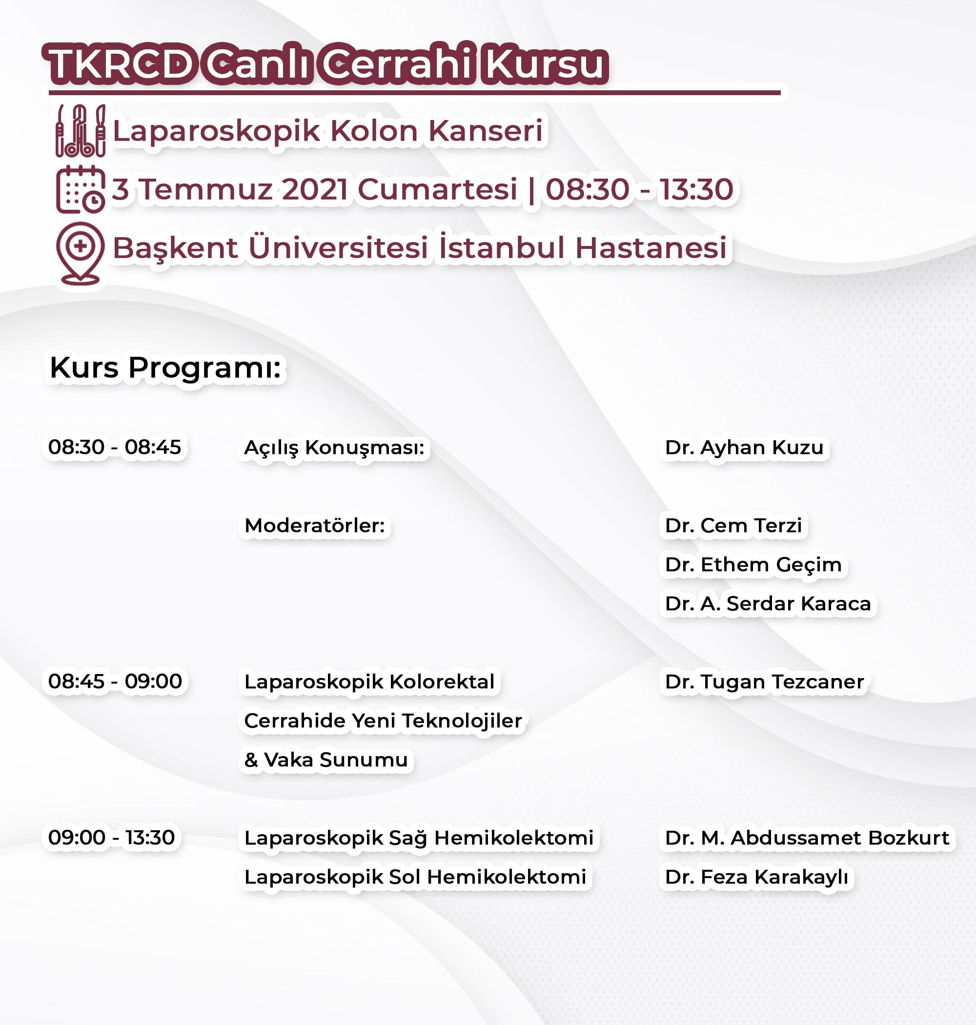 TKRCD Canlı Cerrahi Kursu (Online)