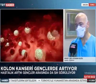 """""""Kolon kanseri gençlerde artıyor!"""" 26.01.2021"""