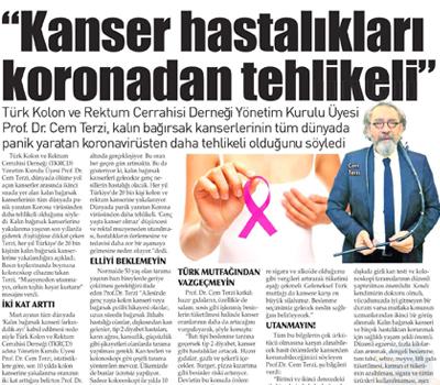 """""""Kanser Hastalıkları Koronadan Daha Tehlikeli"""" 13.03.2020"""