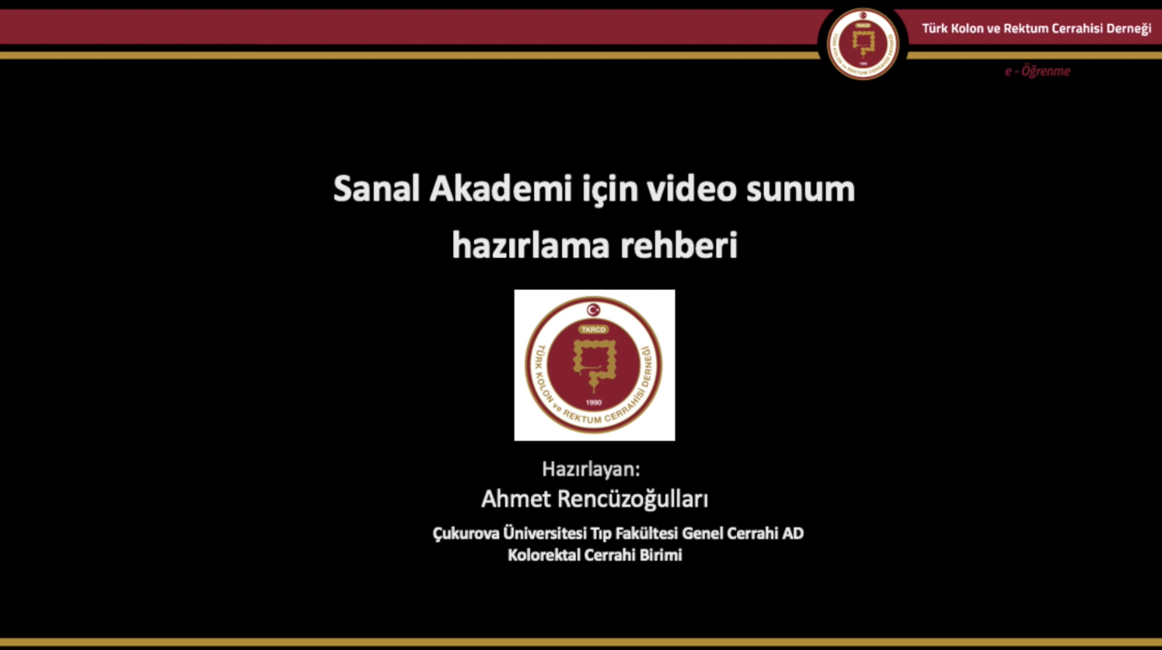 Sanal Akademi Sunum Rehberi